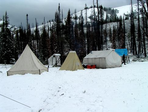 Montana Backcountry Outfitters Our Pack Trip and Campsite Photo